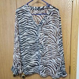 Zebra print blouse.